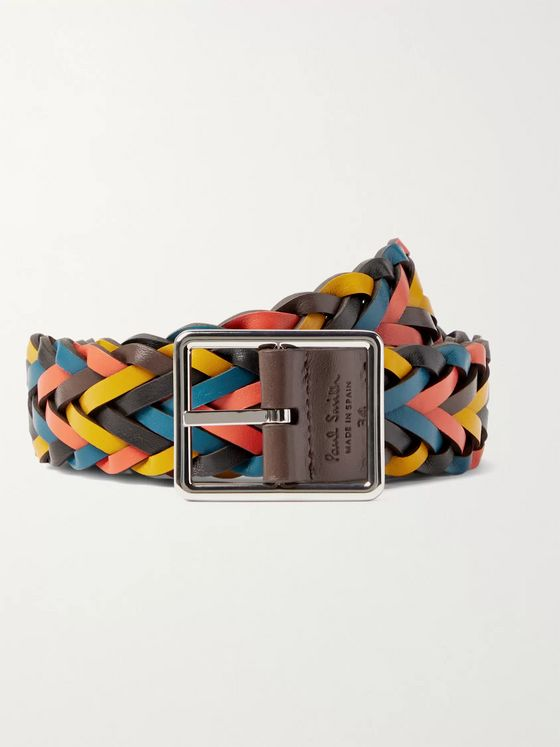 Paul Smith 3.5cm Reversible Braided Leather Belt
