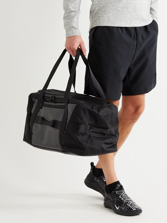 LULULEMON More Miles Webbing-Trimmed Canvas and Rubber Holdall