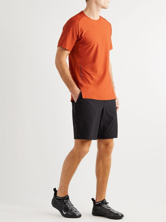 Lululemon Metal Vent Tech Panelled Stretch-Mesh T-Shirt