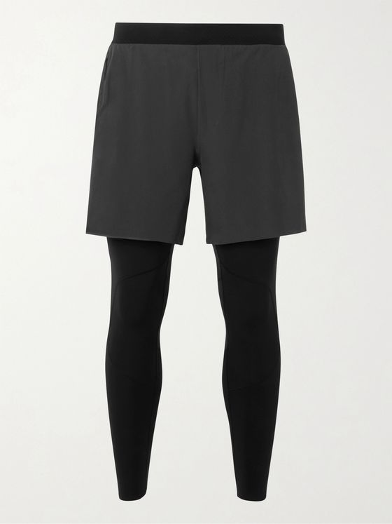 Lululemon Pinnacle 2-in-1 Running Shorts and Tights