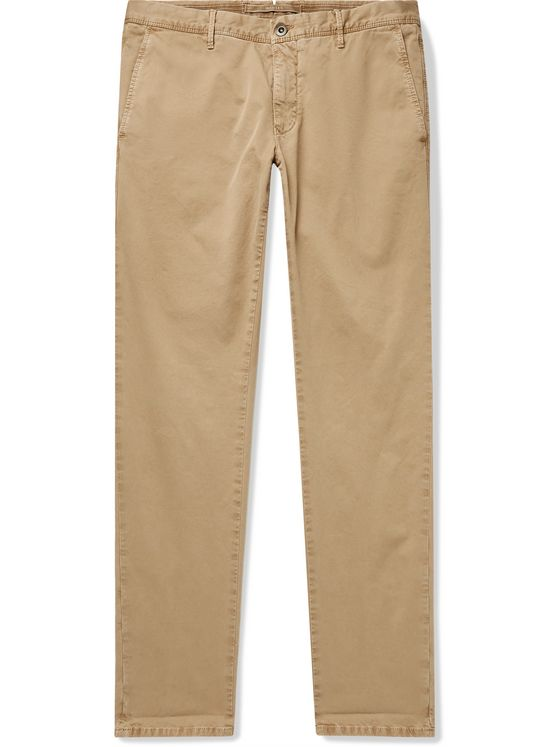 INCOTEX Slim-Fit Stretch Cotton-Twill Trousers
