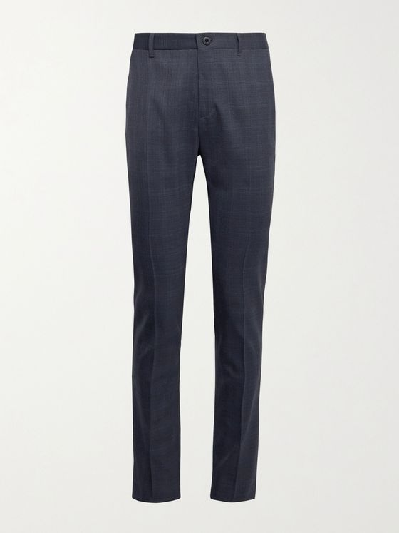INCOTEX Urban Traveller Slim-Fit Checked Stretch-Twill Trousers
