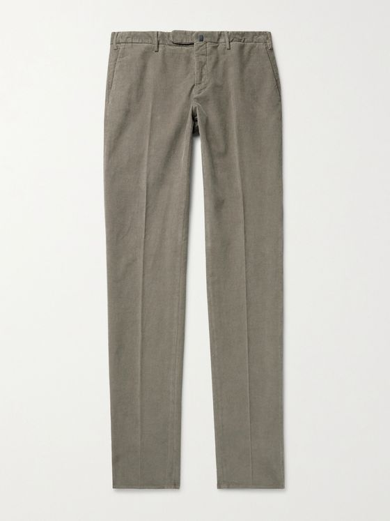 INCOTEX Slim-Fit Stretch-Cotton Needlecord Trousers