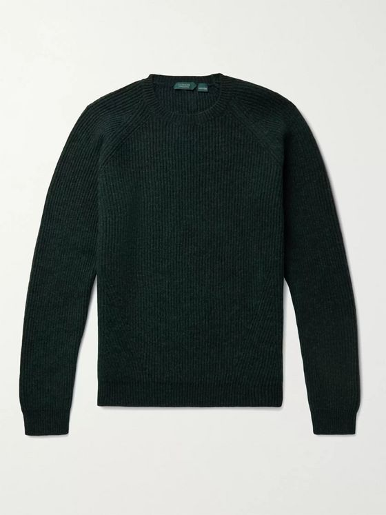 INCOTEX Ribbed Virgin Wool Sweater