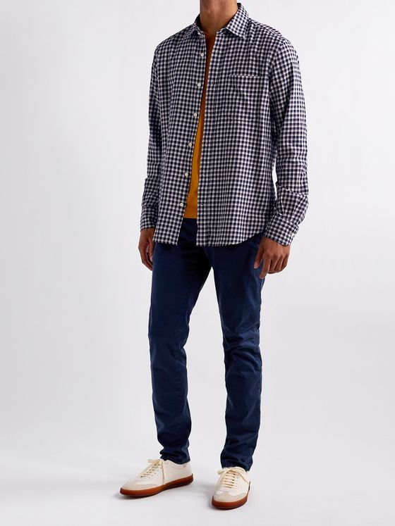 INCOTEX Checked Cotton-Flannel Shirt
