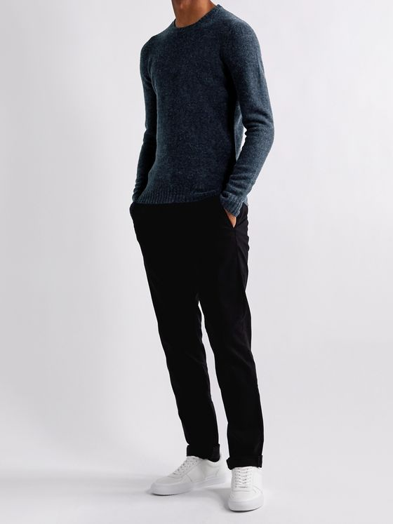 Incotex Mélange Virgin Wool Sweater