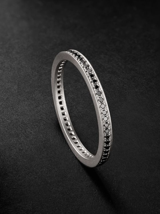 MIANSAI Eclipse Matte Sterling Silver Diamond Ring