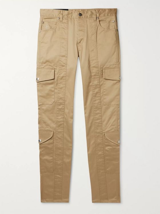 Balmain Slim-Fit Cotton-Blend Gabardine Cargo Trousers