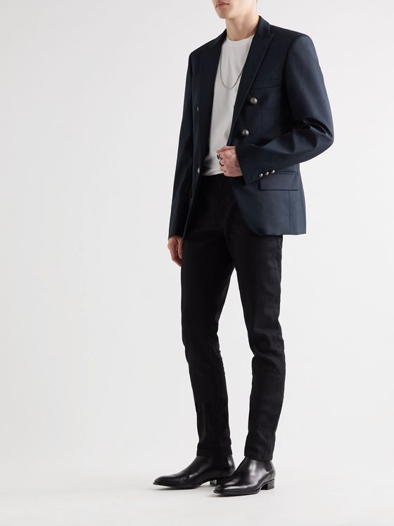 Balmain Slim-Fit Cotton-Blend Blazer