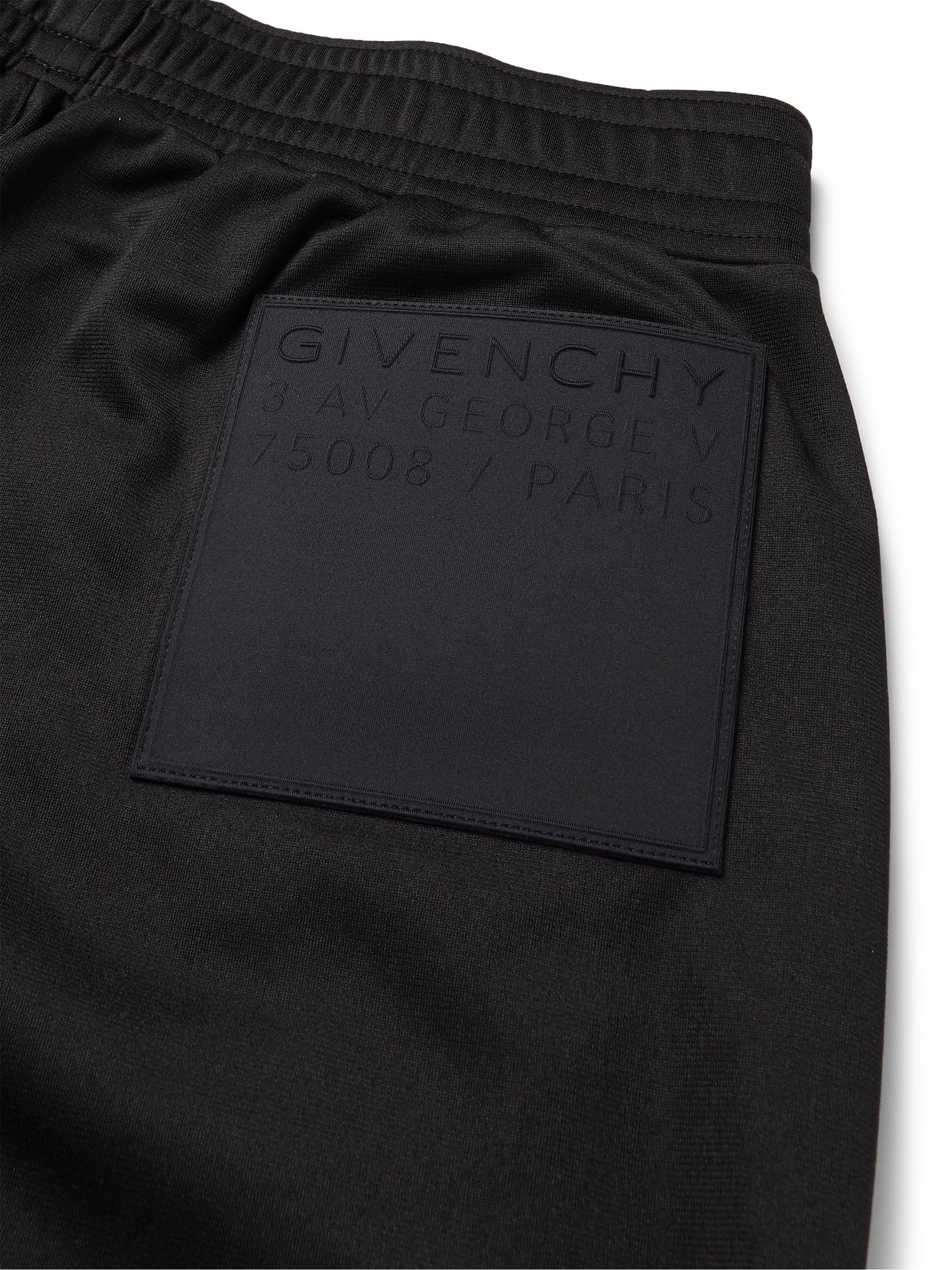 Givenchy Tapered Logo-Appliquéd Fleece-Back Tech-Jersey Track Pants