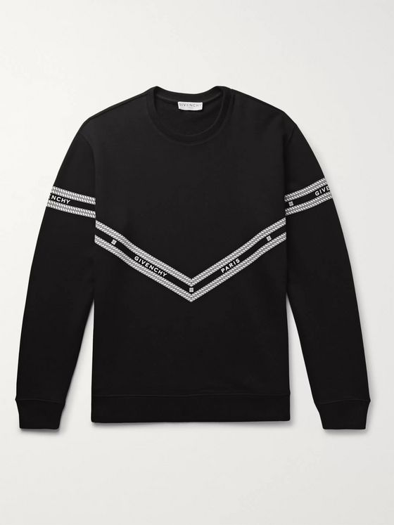 Givenchy Logo-Print Loopback Cotton-Jersey Sweatshirt
