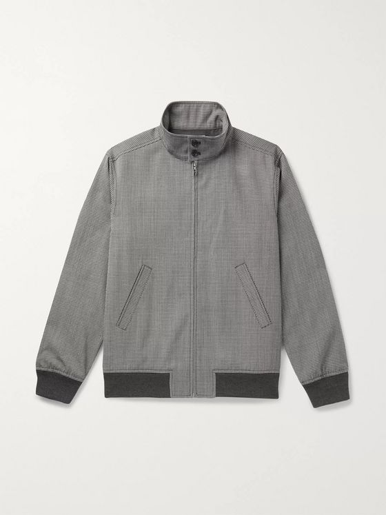 A.P.C. Laurel Houndstooth Woven Bomber Jacket