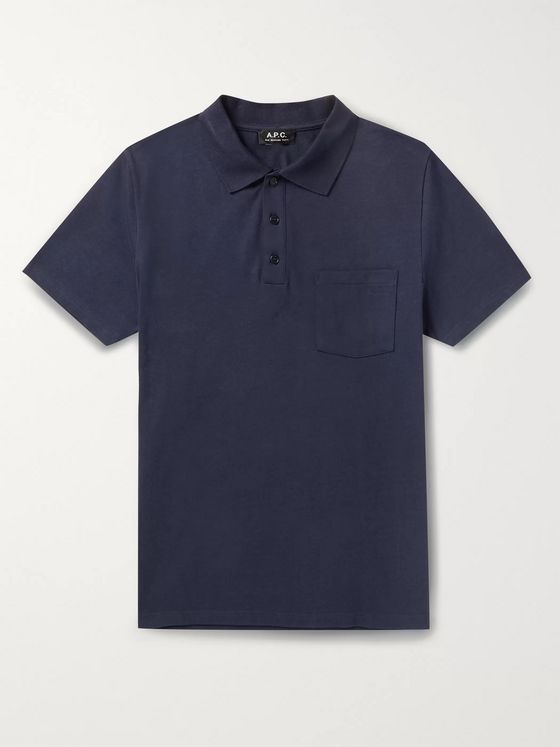 A.P.C. Archie Slim-Fit Logo-Embroidered Cotton Polo Shirt