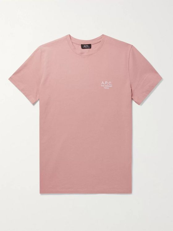 A.P.C. Raymond Logo-Embroidered Cotton-Jersey T-Shirt