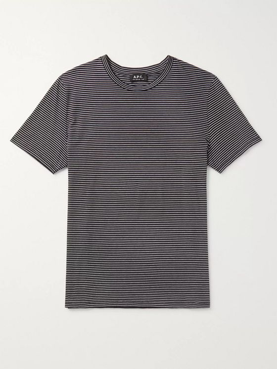 A.P.C. Diego Striped Cotton-Jersey T-Shirt