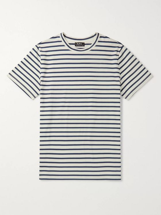 A.P.C. Michael Striped Cotton-Jersey T-Shirt