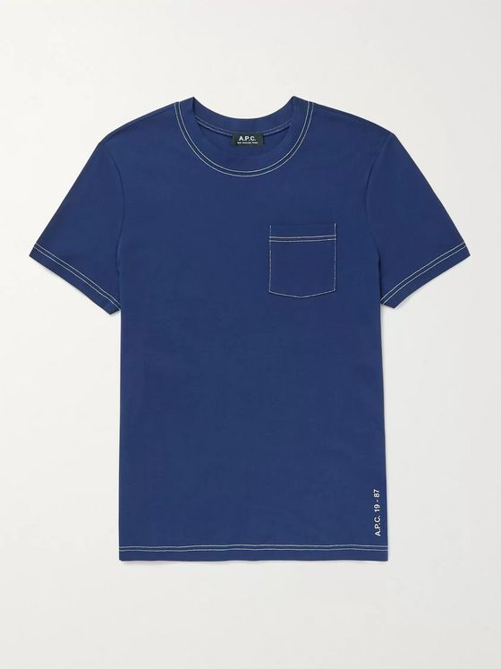 A.P.C. Axel Contrast-Stitched Cotton-Jersey T-Shirt