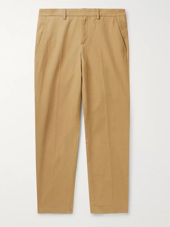 A.P.C. Raphael Slim-Fit Cotton and Linen-Blend Twill Chinos