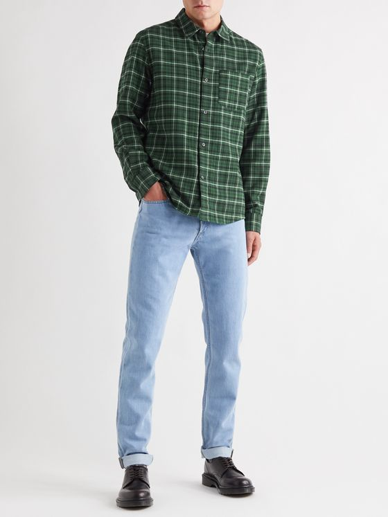 A.P.C. John Checked Cotton Shirt