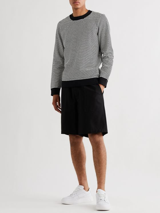 A.P.C. Patrick Striped Cotton-Blend Terry Sweater