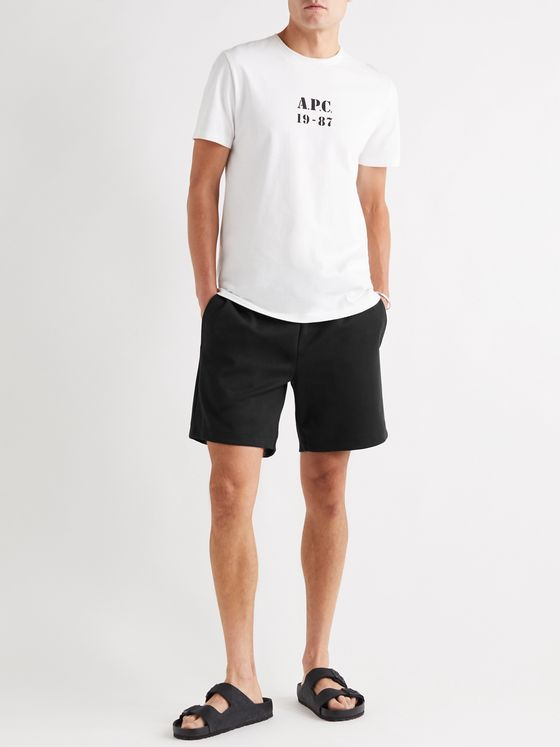 A.P.C. Francois Cotton-Jersey Drawstring Shorts