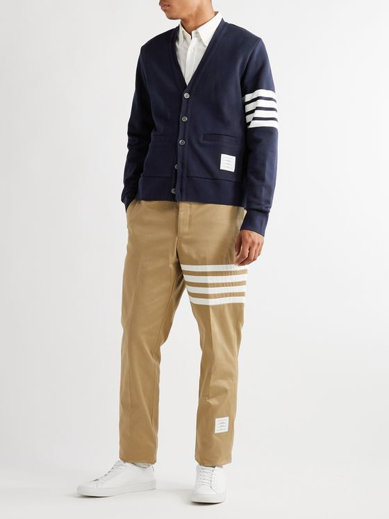 Thom Browne Slim-Fit Striped Cotton Cardigan