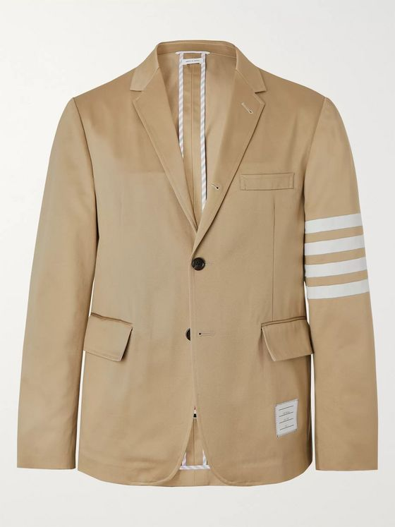 Thom Browne Slim-Fit Unstructured Striped Cotton-Twill Blazer