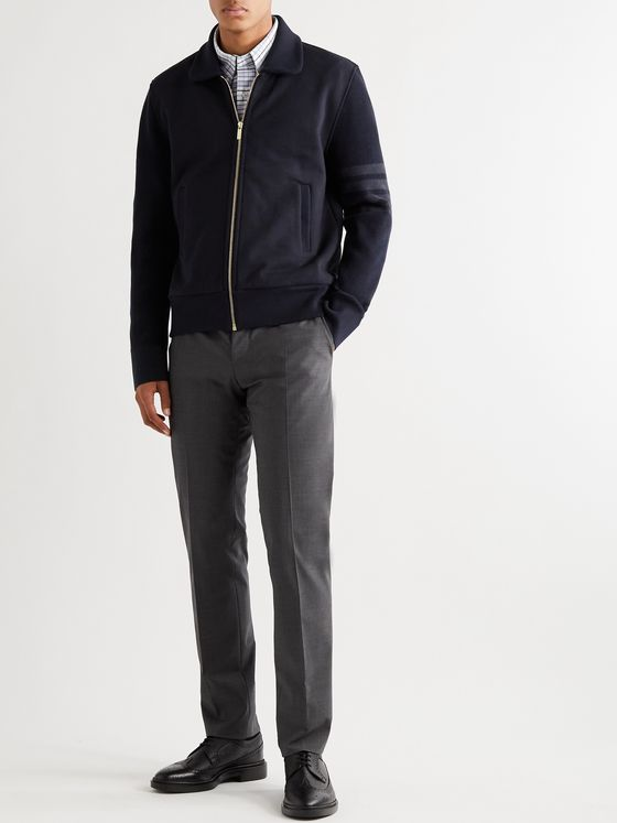 Thom Browne Cotton-Jersey Bomber Jacket