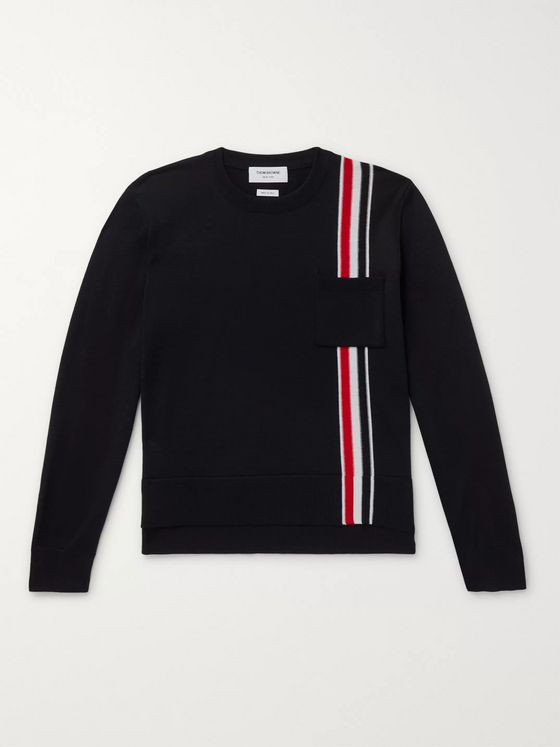Thom Browne Striped Merino Wool Sweater