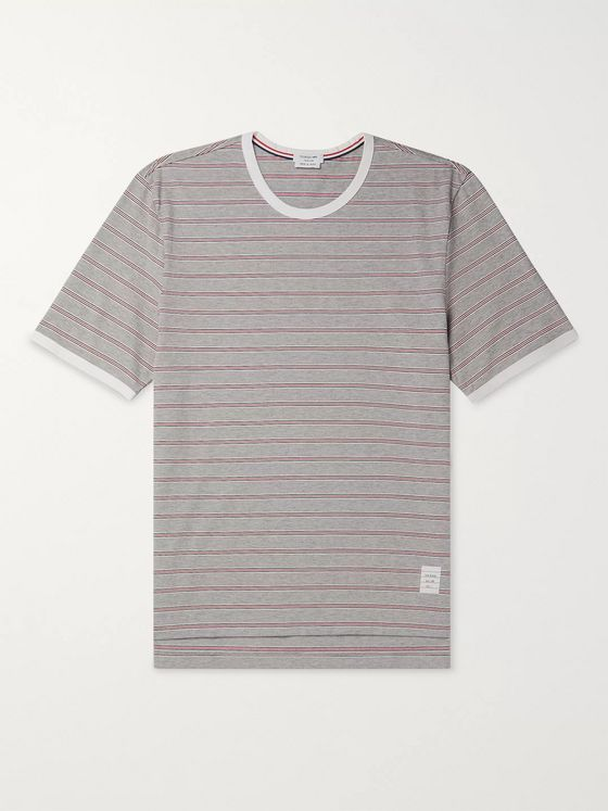 Thom Browne Striped Cotton-Jersey T-Shirt