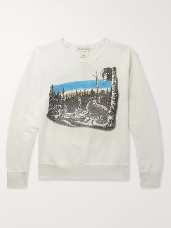 Remi Relief Printed Loopback Cotton-Jersey Sweatshirt