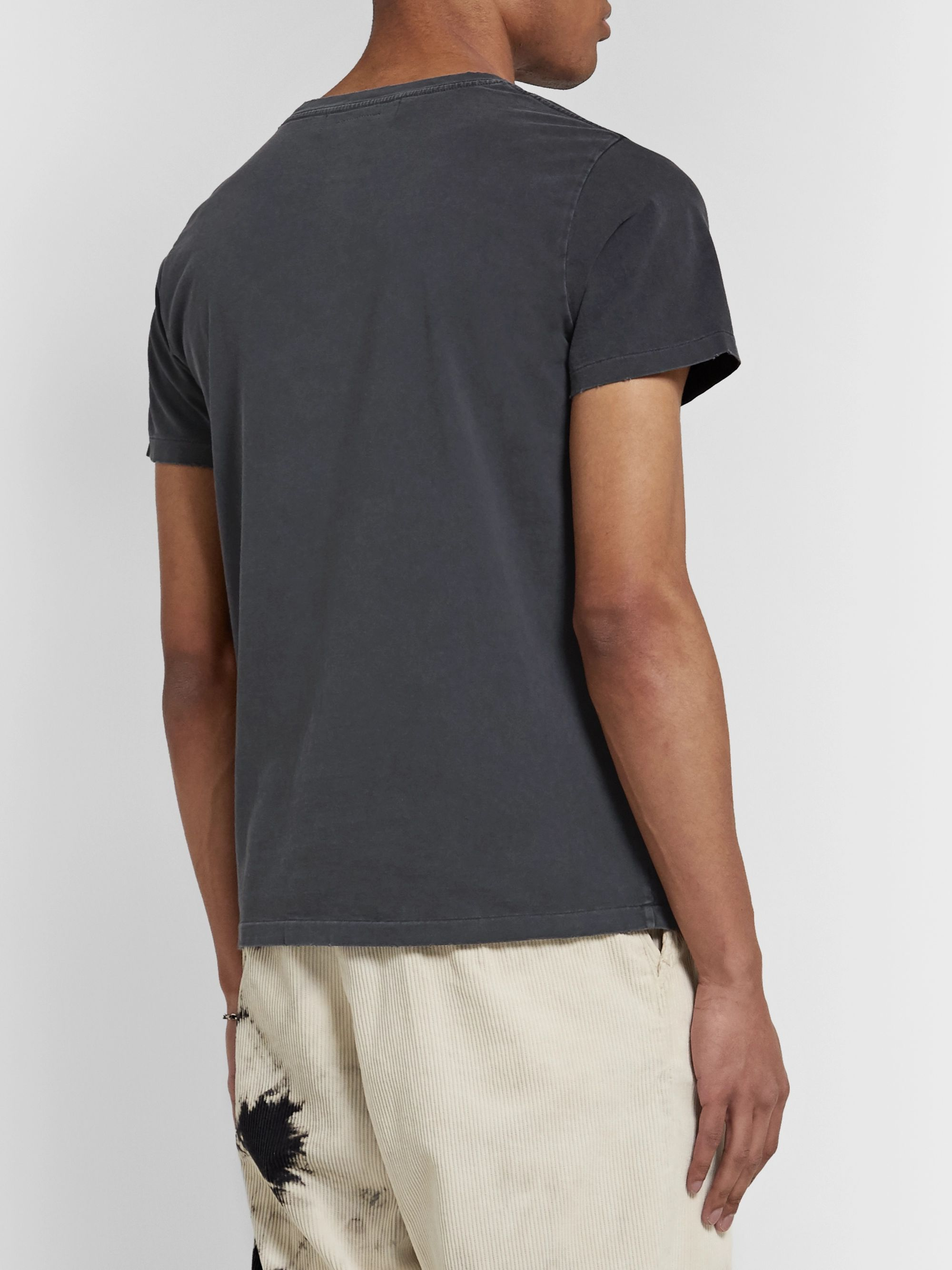 Remi Relief Flocked Cotton-Jersey T-Shirt