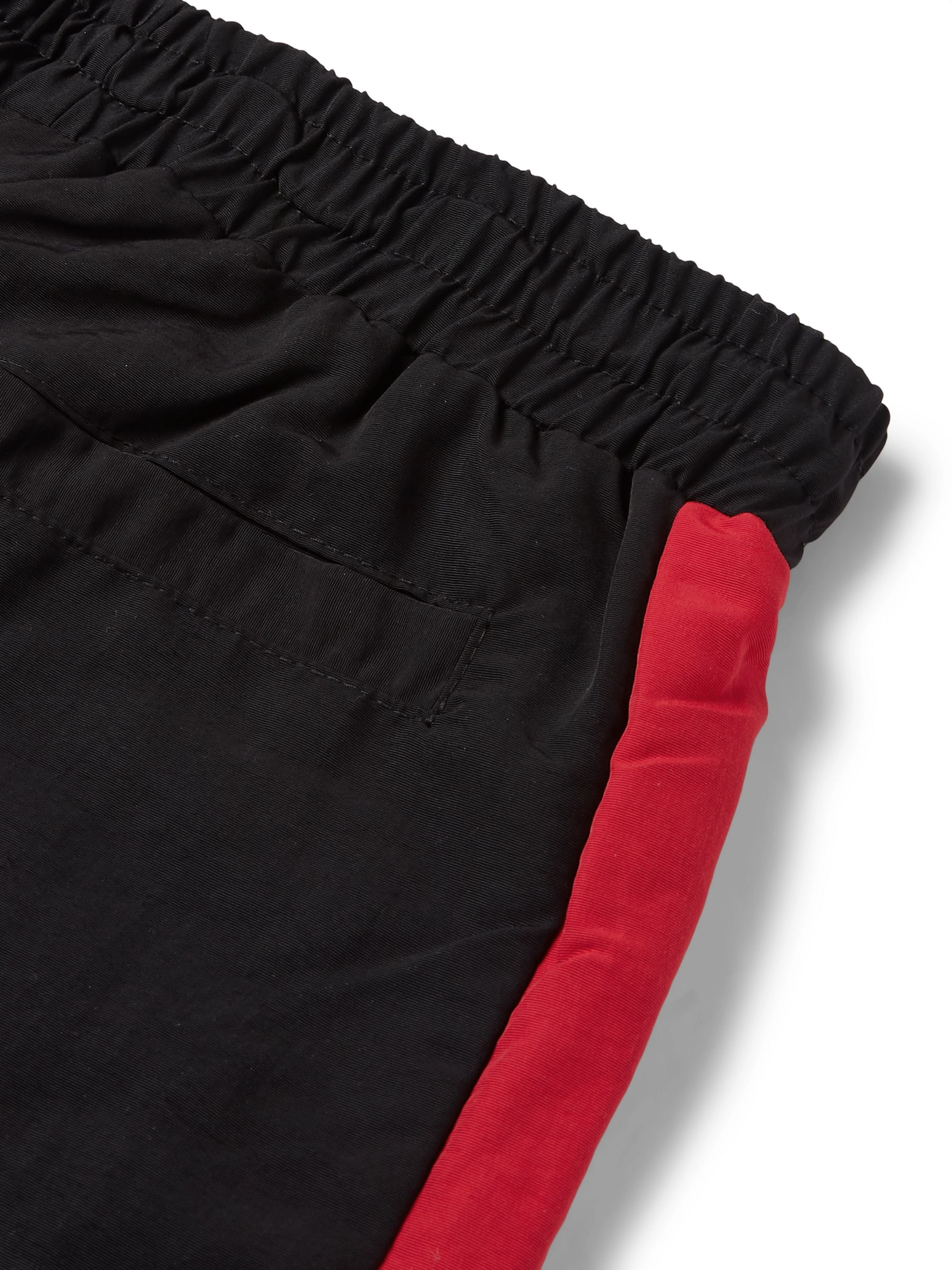 Rhude Color-Block Logo-Appliquéd Shell Trousers