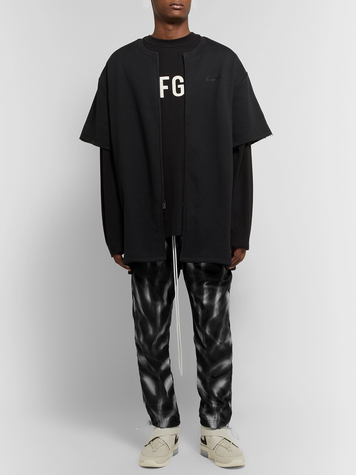Nike Pants FEAR OF GOD TAPERED PRINTED SHELL TRACK PANTS