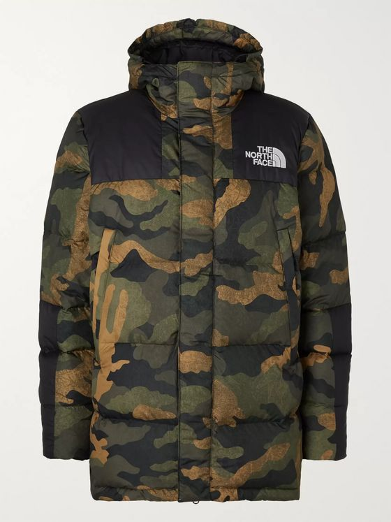 The North Face Deptford Quilted Camouflage-Print Shell Hooded Down Jacket