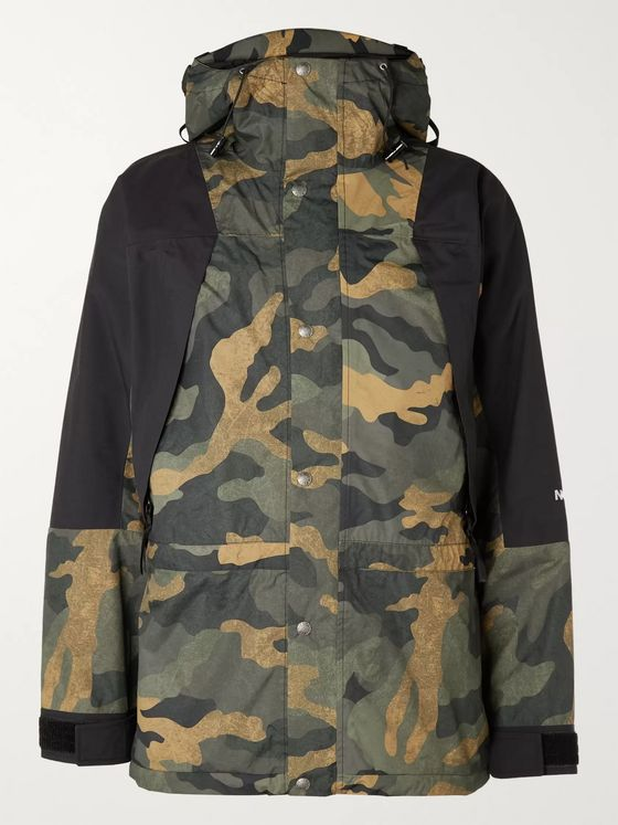 The North Face 1994 Retro Mountain Light Camouflage-Print DryVent Hooded Jacket