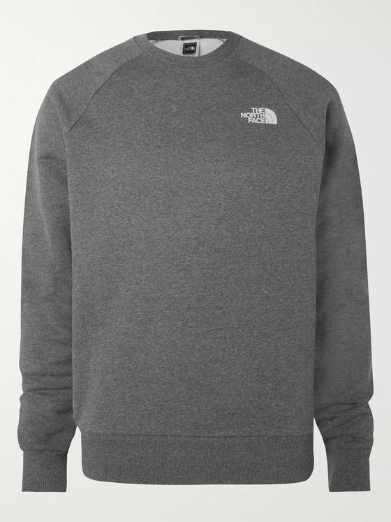 The North Face Logo-Print Mélange Fleece-Back Cotton-Blend Jersey Sweatshirt