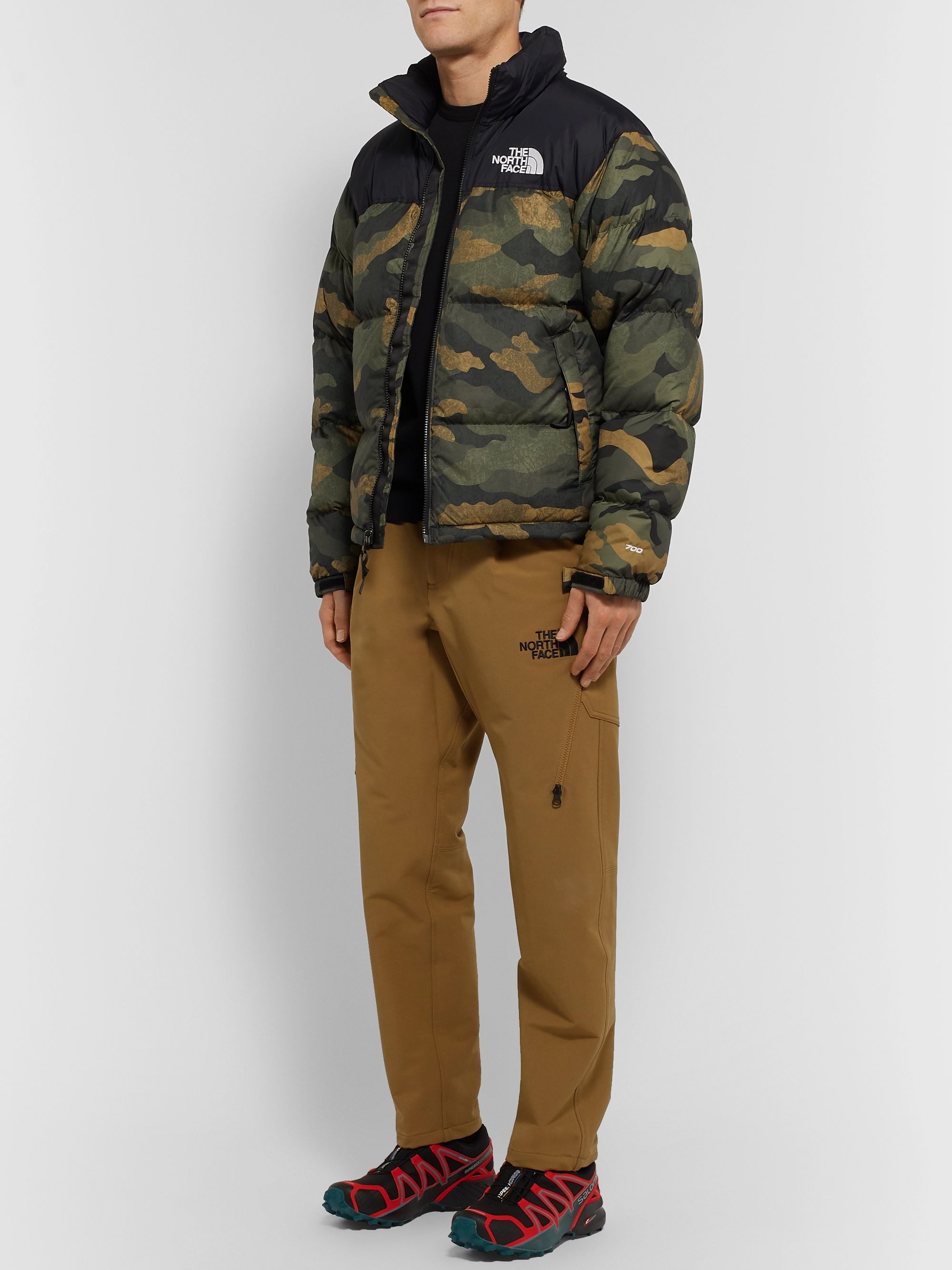 The North Face 1996 Retro Nuptse Camouflage-Print Quilted Shell and Ripstop Hooded Down Jacket