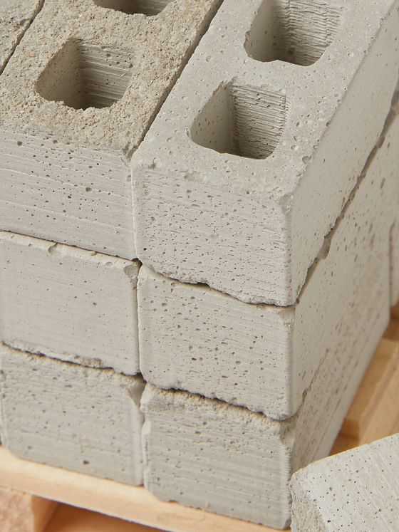 Mini Materials Set of 24 1:12 Model Cinder Blocks