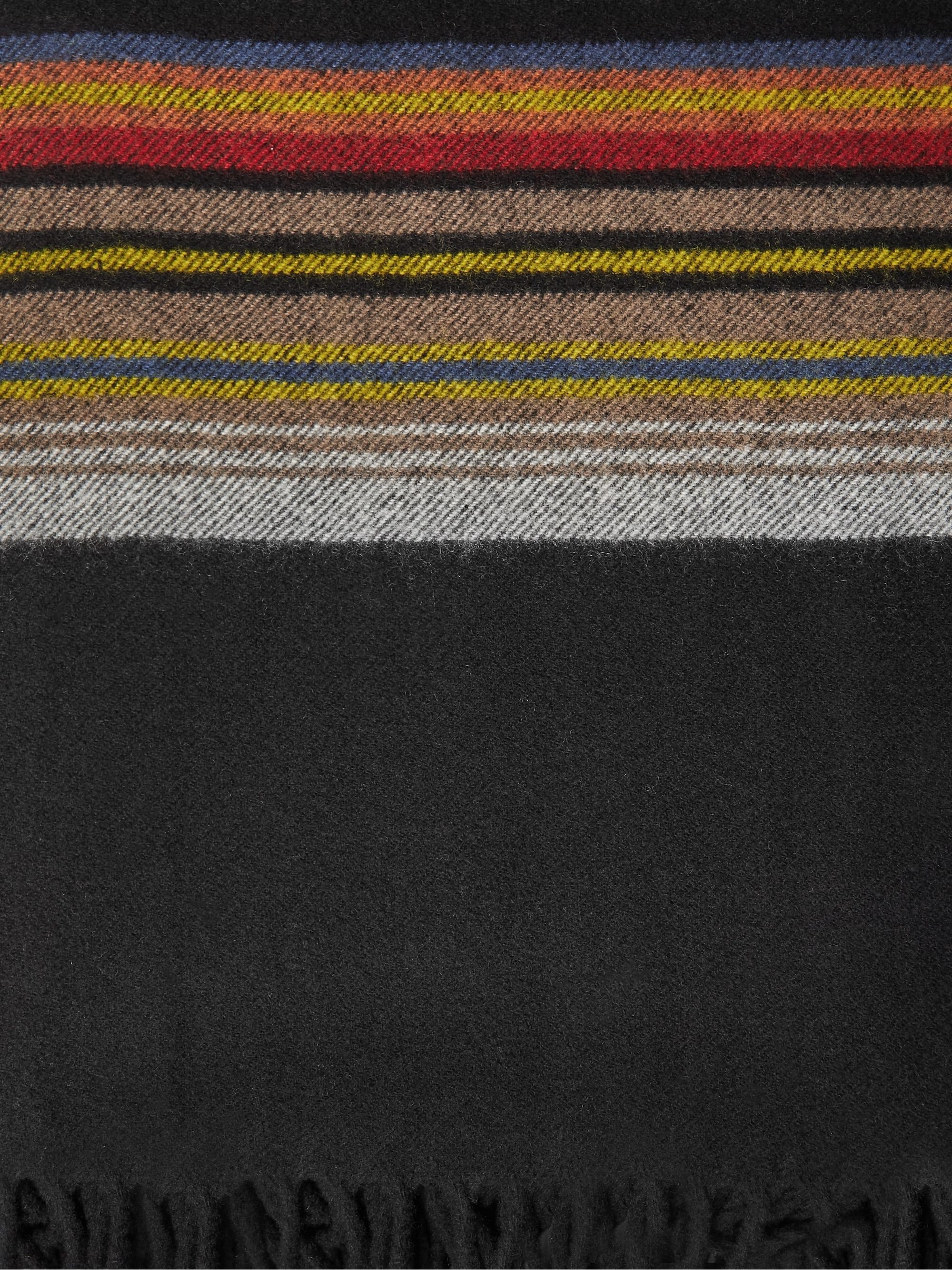 Pendleton 5th Avenue Fringed Wool-Jacquard Blanket
