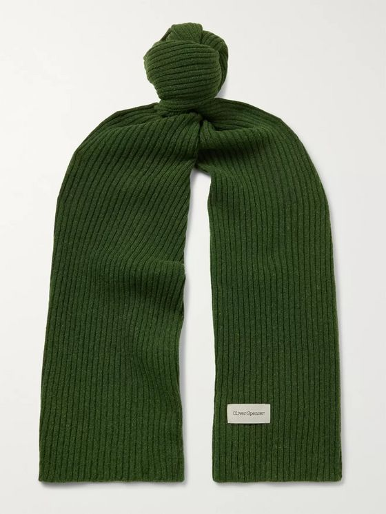Oliver Spencer Ribbed Wool-Blend Scarf