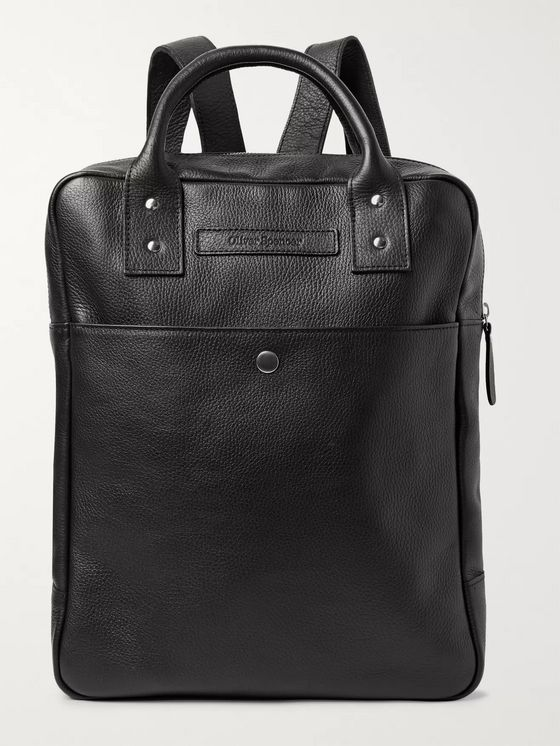 Oliver Spencer Full-Grain Leather Backpack