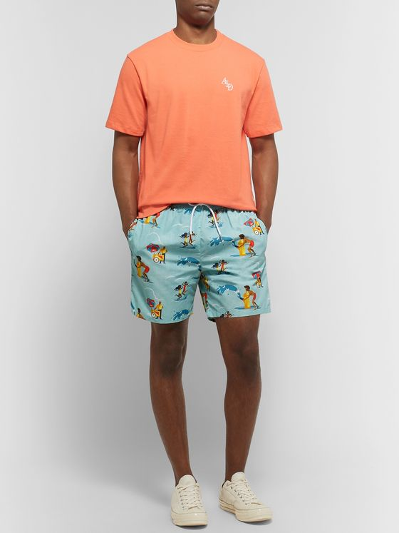 Aimé Leon Dore Block Party Printed Swim Shorts