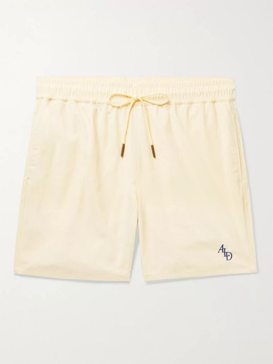 Aimé Leon Dore Slim-Fit Logo-Embroidered Nylon Drawstring Shorts