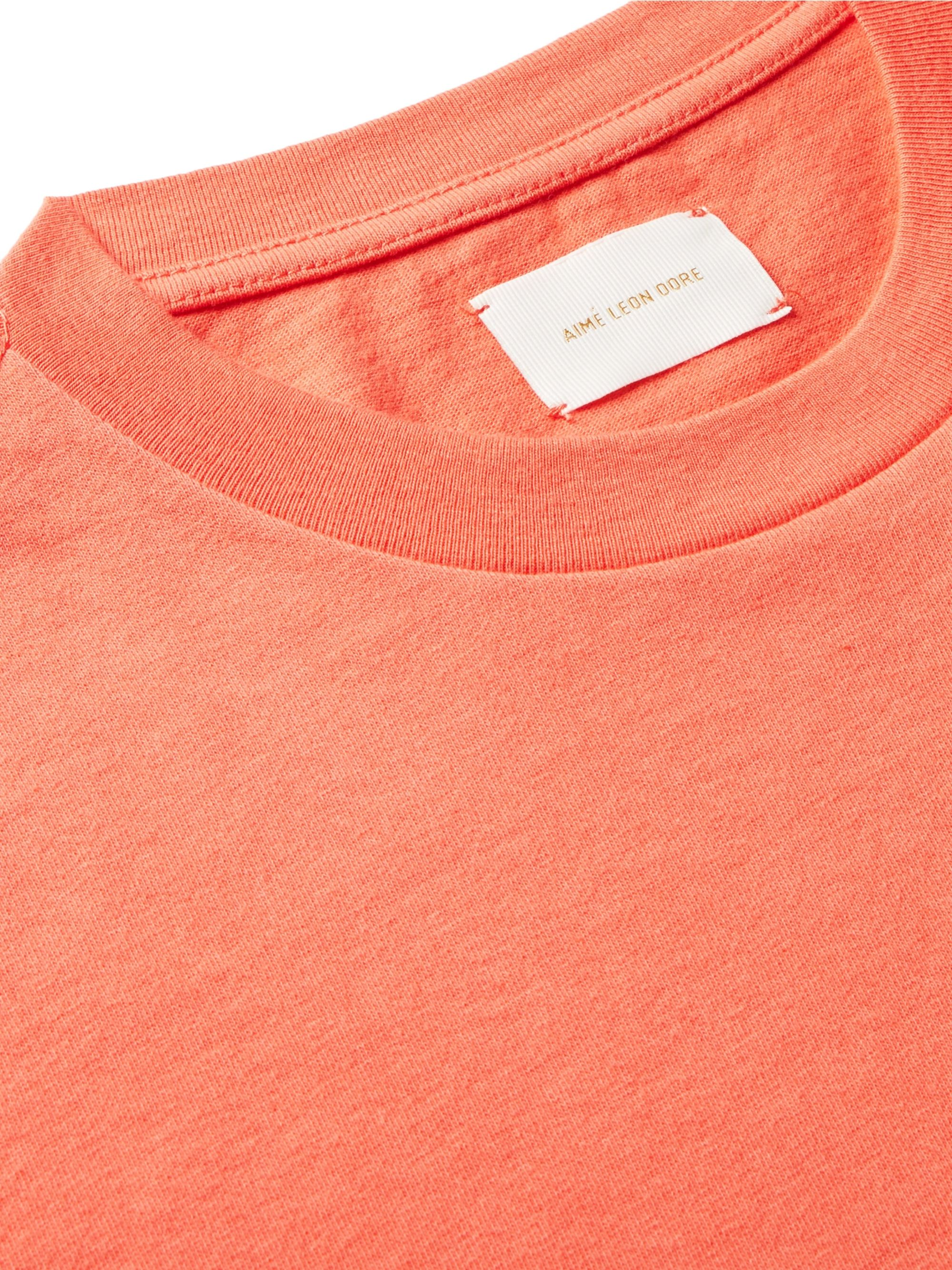 Aimé Leon Dore Logo-Embroidered Cotton-Jersey T-Shirt