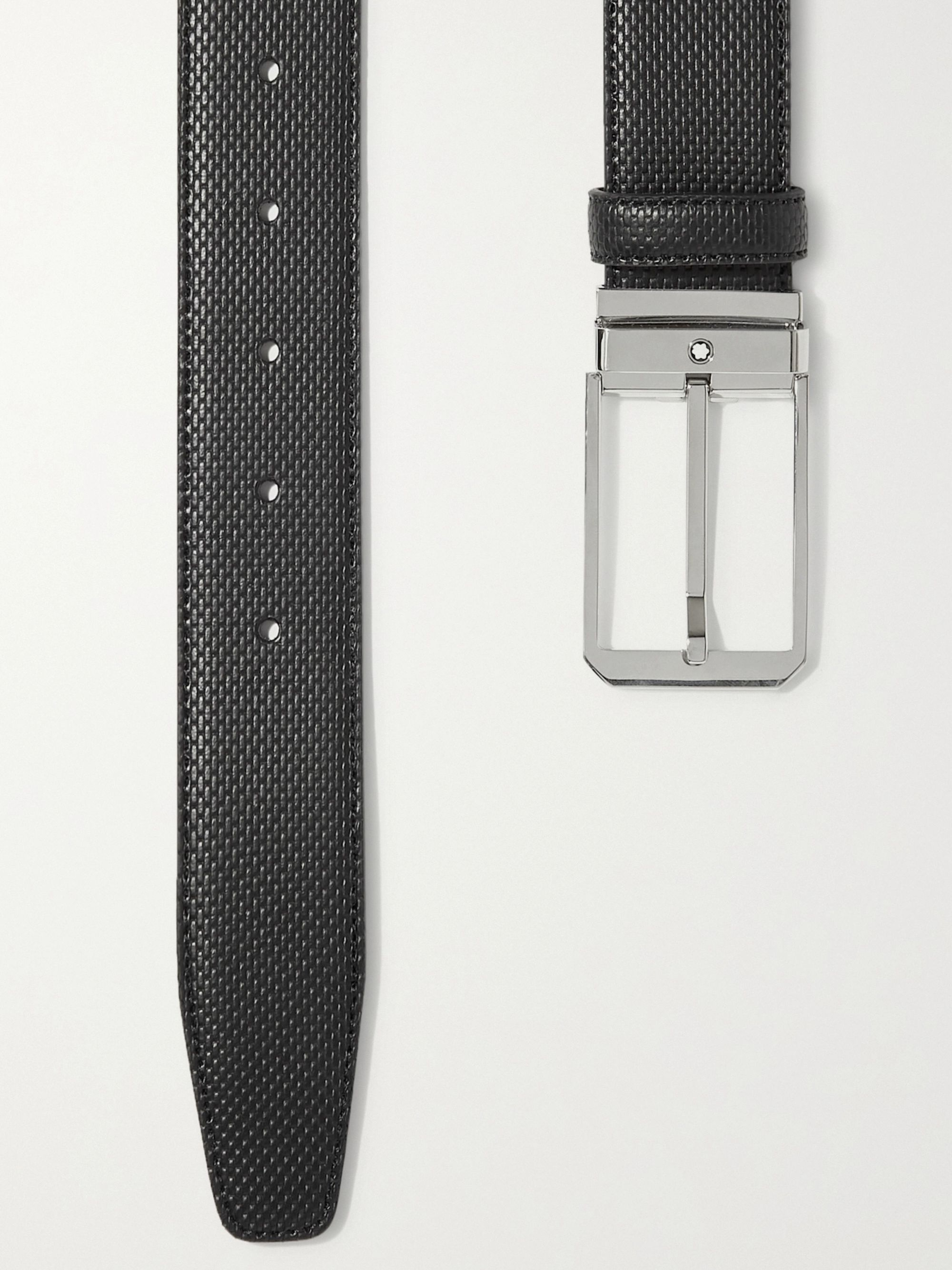 Montblanc 3.5cm Woven Leather Belt and Cardholder Gift Set