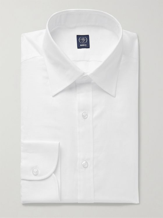 Beams F Cutaway-Collar Slub Cotton and Linen-Blend Shirt