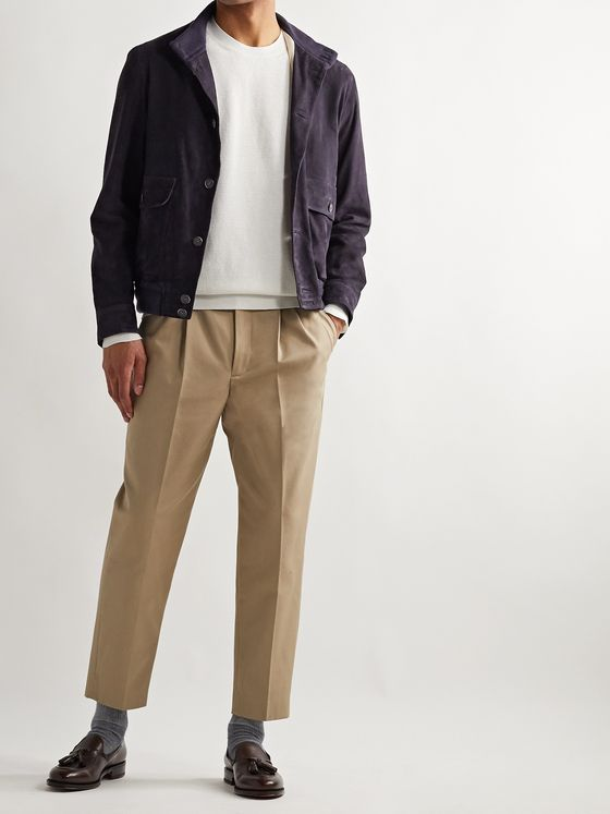 Beams F Suede Bomber Jacket