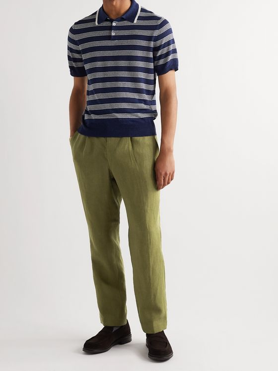 BEAMS F Linen Drawstring Trousers