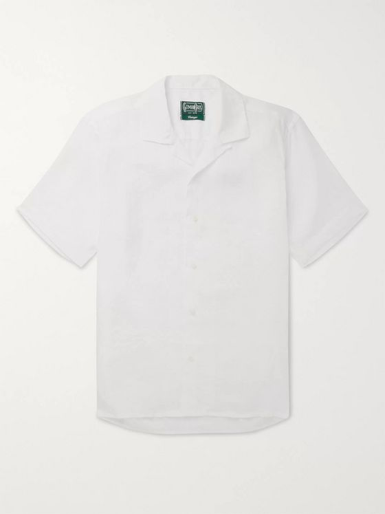 Gitman Vintage Camp-Collar Linen Shirt